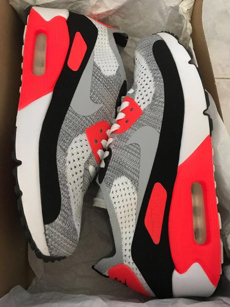 separation shoes 183a7 18f82 NIKE Air Max 90 Ultra 2.0 Flyknit Infrared OG Sneakers ...