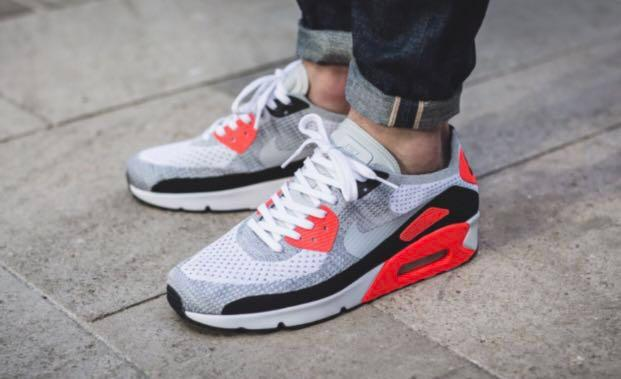 separation shoes ec612 4f3d5 NIKE Air Max 90 Ultra 2.0 Flyknit Infrared OG Sneakers ...