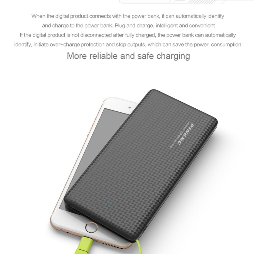 Original Pineng Power Bank 10000mAh External Battery Pn-951 Portable Mobile Fast Charger Dual USB for iPhone Samsung LG Xiaomi