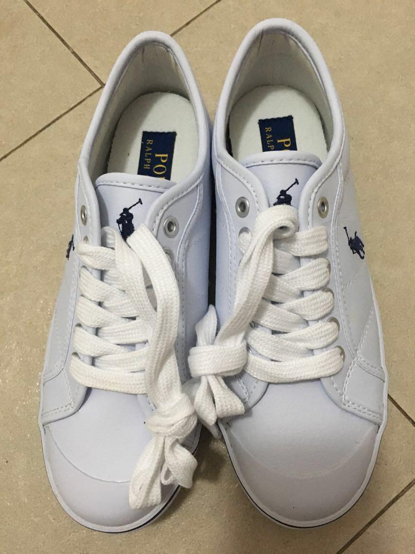 ralph lauren white shoes womens