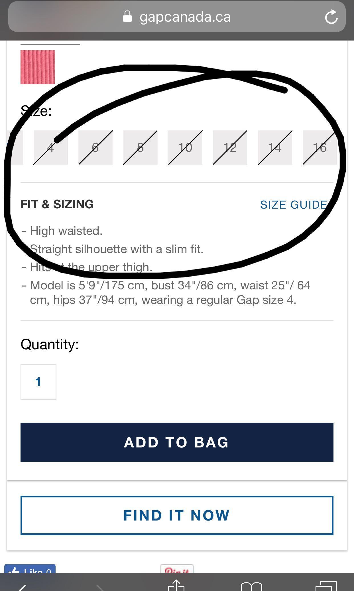 Popular midnight blue Gap zip front corduroy skirt