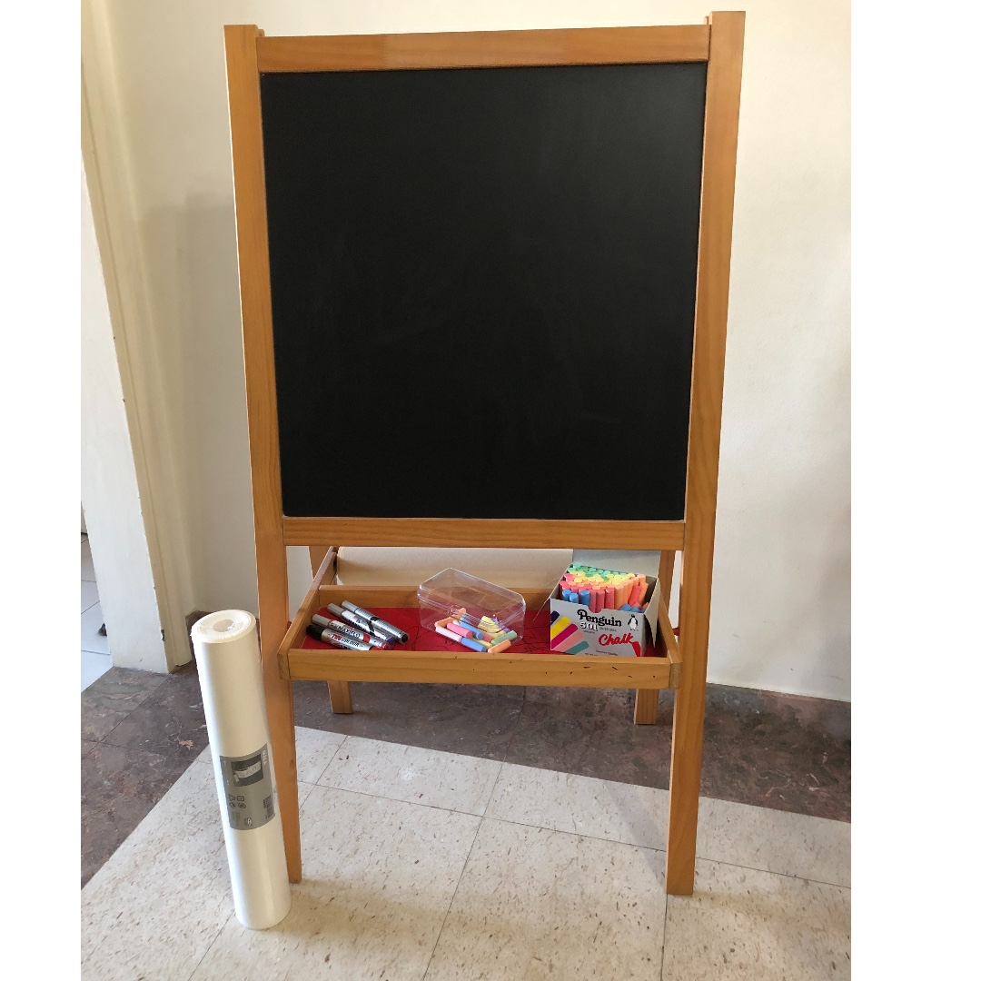 Preloved Mala Easel Ikea With Chalk Whiteboard Markers New