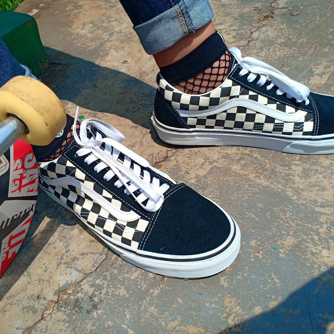 a71a8fda2a Sepatu Vans OldSkool Checkerboard Second ORIGINAL JAPAN MARKET ...