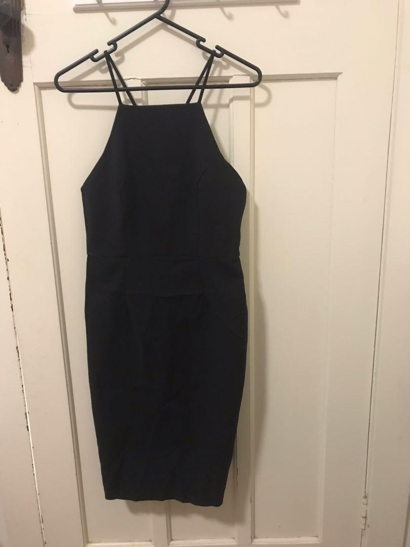 Showpo - tight black dress, very good condition, worn once