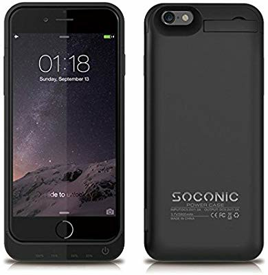 finest selection 835f4 7be02 SOCONIC Power Case Iphone 6/6S With Tempered Glass