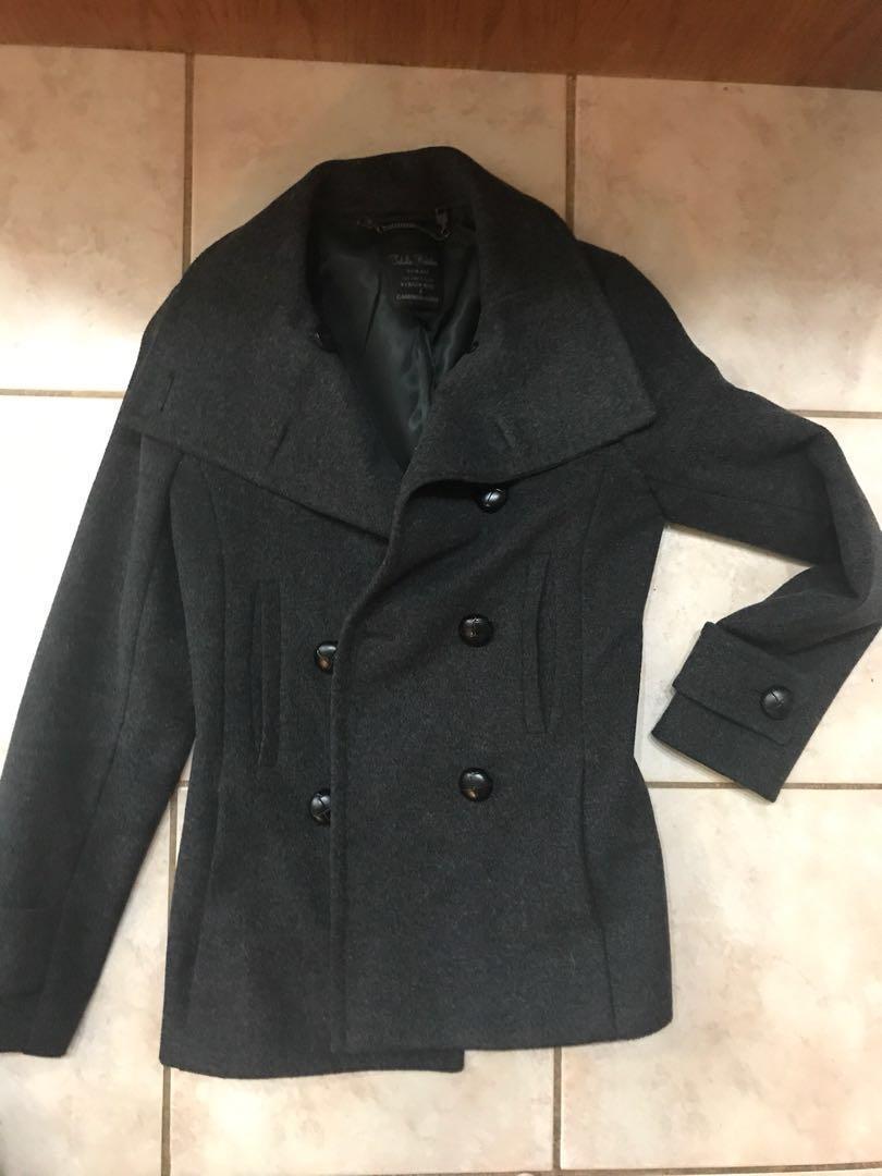 Talula Babaton Howell Cashmere Virgin Wool Blend Peacoat
