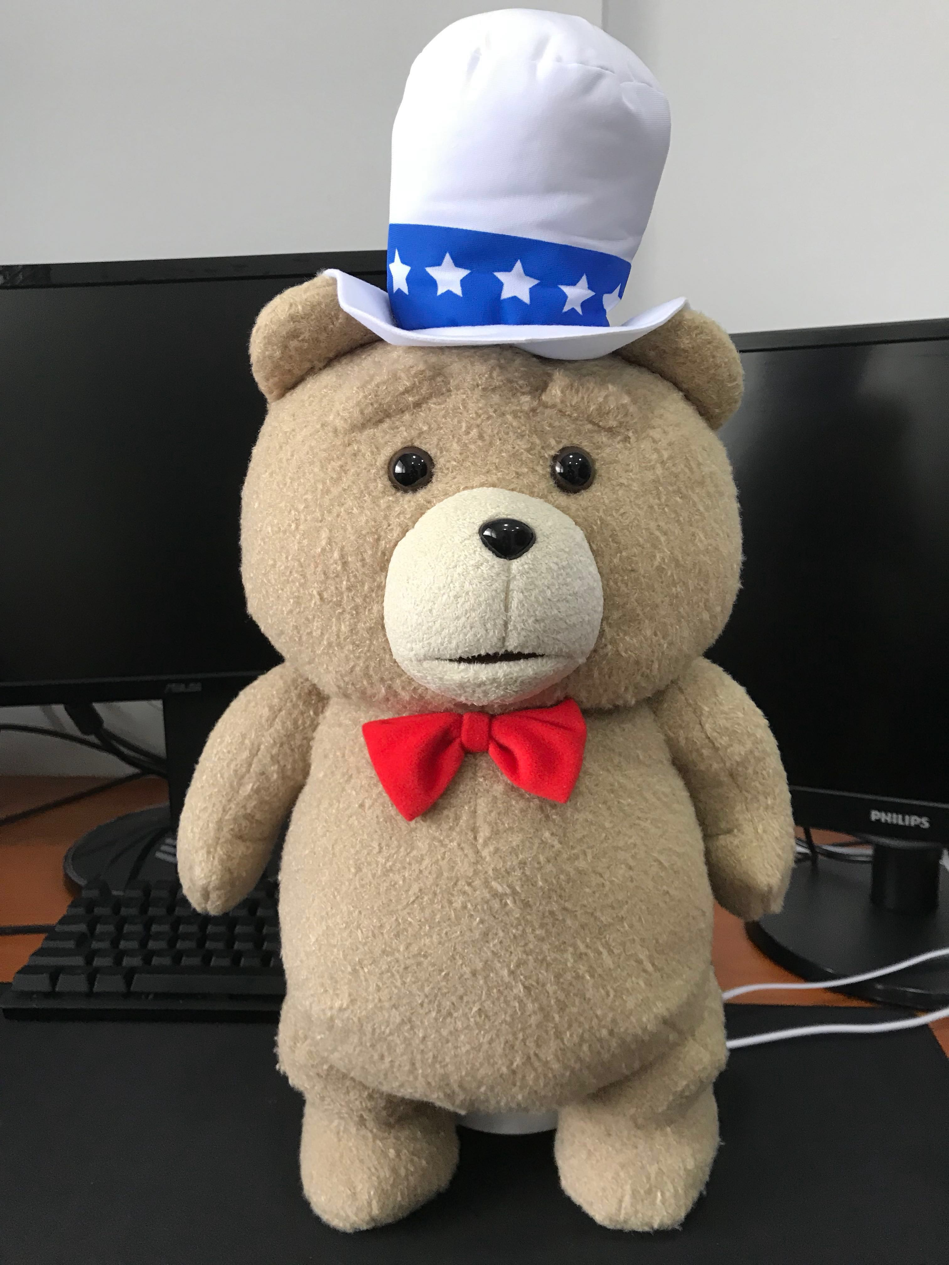 Ted 2 bow tie with silk hat plush authentic 676438afbe46