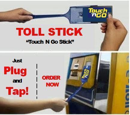 Touch N Go Quality Toll Stick With Card Holder 35cm Motorbikes Motorbike Accessories On Carousell