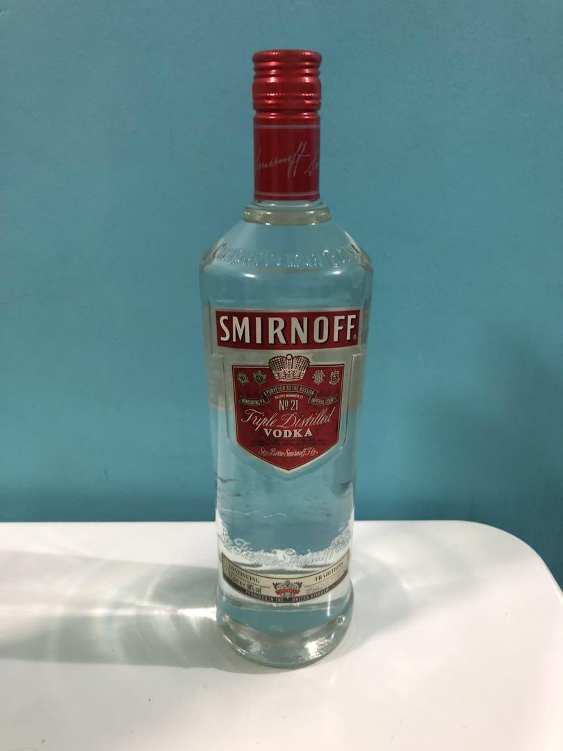 Vodka Smirnoff Red No 21 , Food & Drinks, Beverages on Carousell
