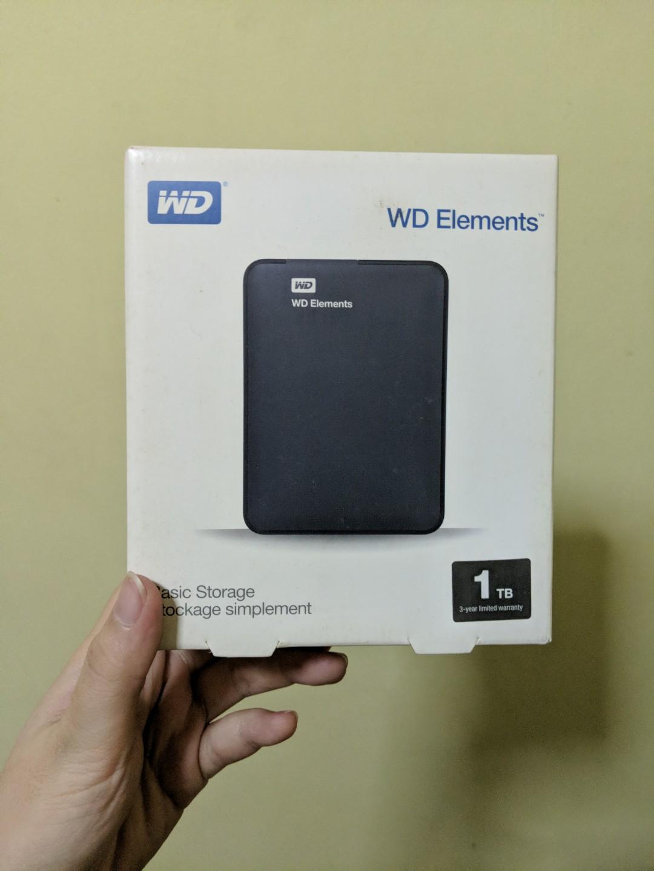WD Elements 1TB Basic Storage