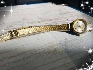 Jam Tangan Wanita Vintage Sekonda  Ladies Quartz Watch With Diamonte Crystals Goldpleted Stainless Bracelet.