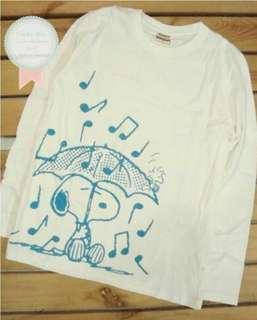 100% new 日本Snoopy 限定版靚靚TEE  (Rain music)#summer19
