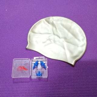 Pre❤️ 3 in 1 (Adult Swimming Cap, Nose Clip, & Earplug) #MFEB20