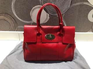 Mulberry Bayswater Tote in Hot Red
