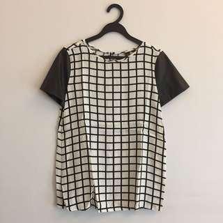 BN Mango Checkered Top