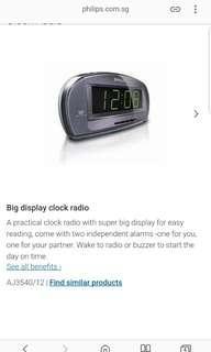 Philips big display clock