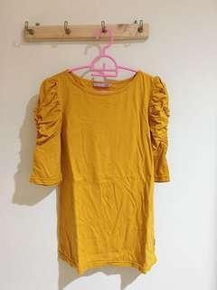 Baju Berlengan Kuning Mustard