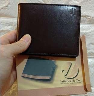 Jafferjee & Co.全新男裝深棕色真皮銀包