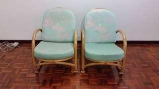 Rattan chairs × 2