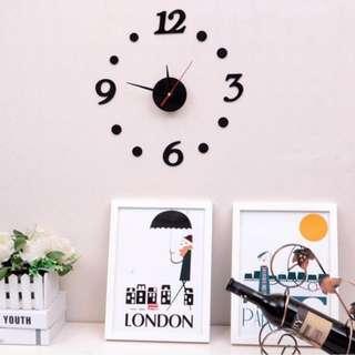 home clock 數字掛鐘 靜音 全新 鐘錶 亞克力膠 創意 DIY 簡約風 禮物  家居用品