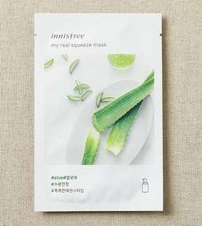 [5pcs aloe] Innisfree my real squeeze mask