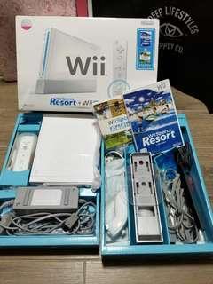 香港行貨 Wii 主機跟原裝配件連兩款遊戲(冇改機)