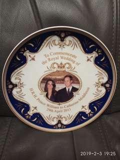 威廉王子大婚紀念碟 $300