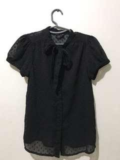 Black Blouse Divided by H & M