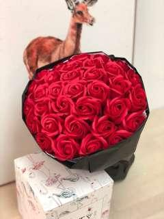 [情人節禮物]33番梘花香皂玫瑰花