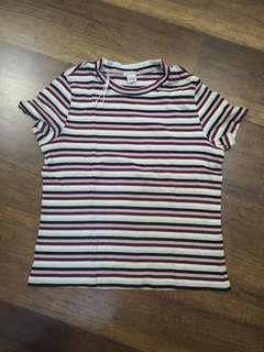 Striped colourful rainbow top