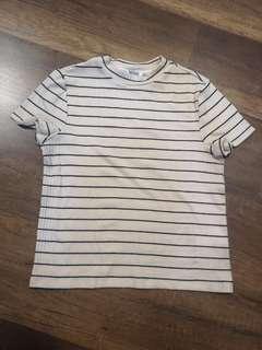 Monki striped beige top