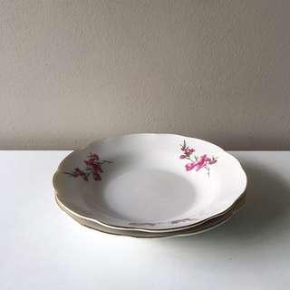 2pc Vintage 17cm Sakura Porcelain Snack Plates