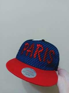 PARIS Blue Red Cap