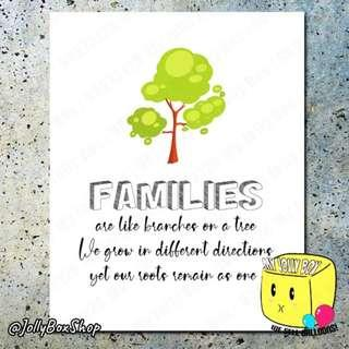 Family Related Quotes Poster Print   40 x 50 cm #familyquote #poster #homedeco
