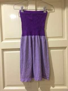 Tube Knit Beach Coverup Top Dress UK8