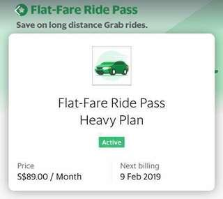 🚚 Grab Pass $14 flat fare unlimited distance + multiple stops