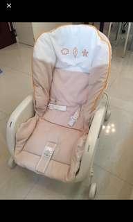 [1折出售] 新生到2歲適用 Combi Prumea S BB 嬰兒 搖椅 搖床 餐椅 Low Chair