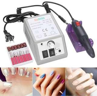 Cadrim Nail Drill Machine Nail File Drill Set Kit for Acrylic Nails Gel Nail Glazing Nail Drill Nail Art Polisher Sets Glazing Nail Drill Fast Manicure Pedicure