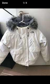 North Face white Winter /skiing jacket