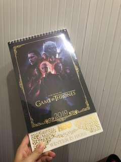 Game of Thrones 2019月歷