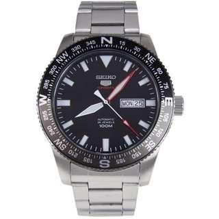 🚚 BNIB Seiko 5 Sports Automatic 24 Jewels 100M SRP669 SRP669K1 SRP669K Black Dial Stainless Steel Bracelet Men's Watch