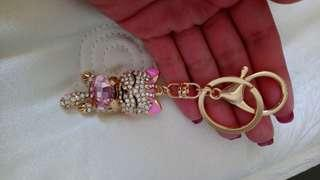 PINK CAT KEYCHAIN/PURSE CHARM