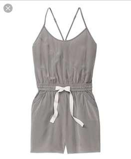 Aritzia Wilfred Silk Romper Dusty Rose