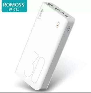 AUTHENTIC ROMOSS Sense 8 Universal Fast Charger Power Bank 30000 Mah   For Mobile Phones and Tablets with Dual USB Ports