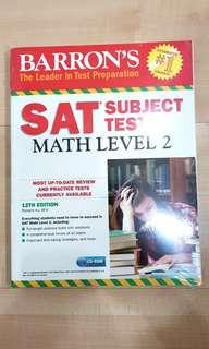 (NEW) SAT Subject Math Level 2 Barron's