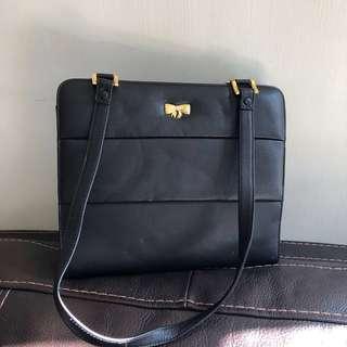 Missco vintage black leather bag 黑色真皮復古手袋 新淨