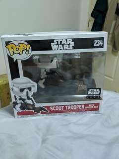 🚚 Funko Star Wars Smugglers Bounty Scout Trooper with speeder bike