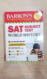 (NEW) SAT Subject World History Barron's