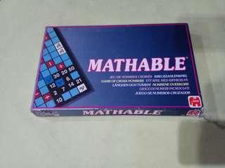 Mathable gameboard