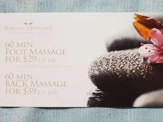 🚚 Knead theraphy massage voucher